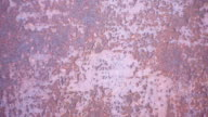 Metallic rusty texture with shabby paint video