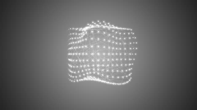 metamorphose of amorphous shape, spherical ondulation, abstract animation of future shape video