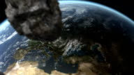 Meteor heading to Earth video