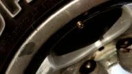 Meter gauge air tires, checking shot video