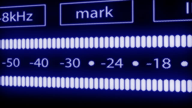 VU meter of DAT recorder video