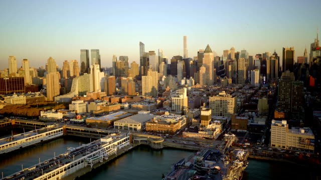 metropolis scenery landmark. skyline cityscape background. manhattan in new york city video