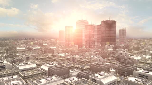 Metropolitan City 3D Flight video