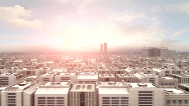 Metropolitan City Flight - Fast Panning video