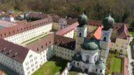 Metten Monastery In Lower Bavaria Flyover video