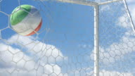 Mexican Ball Scores in Slow Motion with Sky Background video