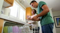Mexican couple doing dishes video