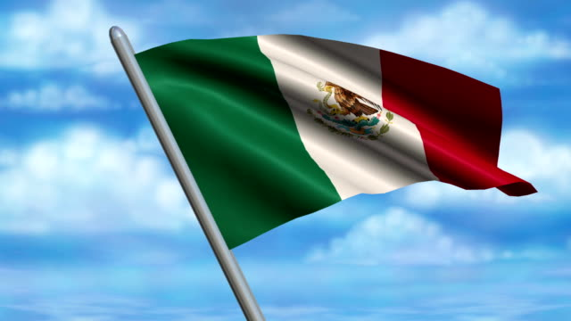 Mexican Flag Animation video