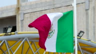Mexican Flag Close-up video
