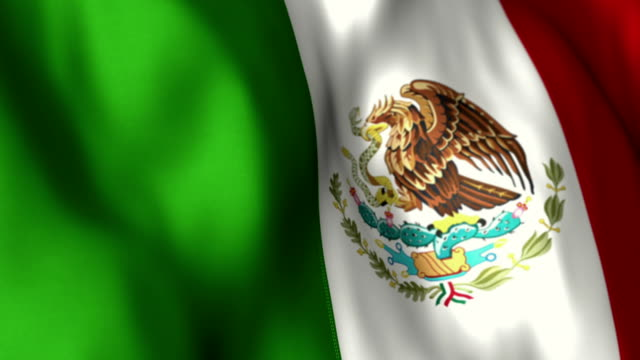 Mexican Flag High Detail - Looping video