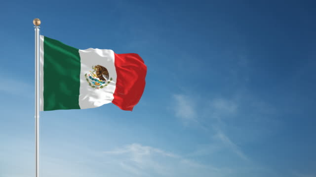 4K Mexican Flag - Loopable video