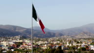 Mexican flag on wind video