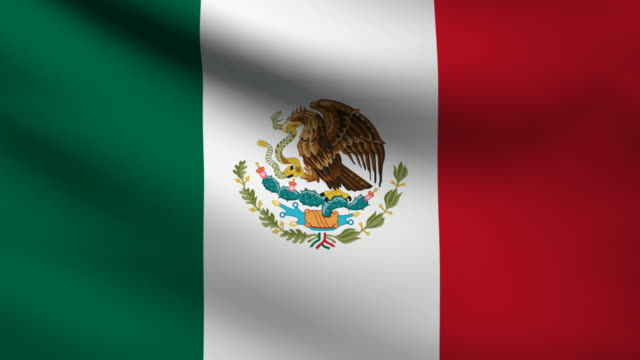 Mexican flag. video