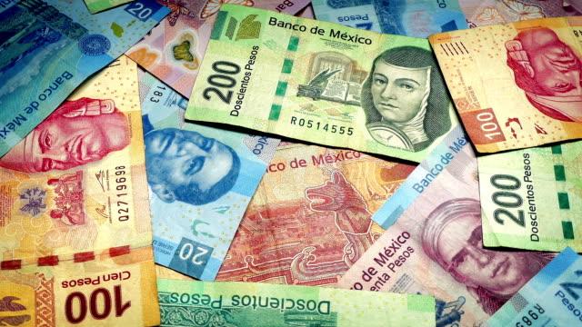Mexican Peso Banknotes Rotating video