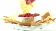 Mexican Salsa And Chips Loop - HD video