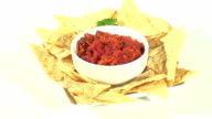 Mexican Salsa And Tortilla Chips Loop - HD video