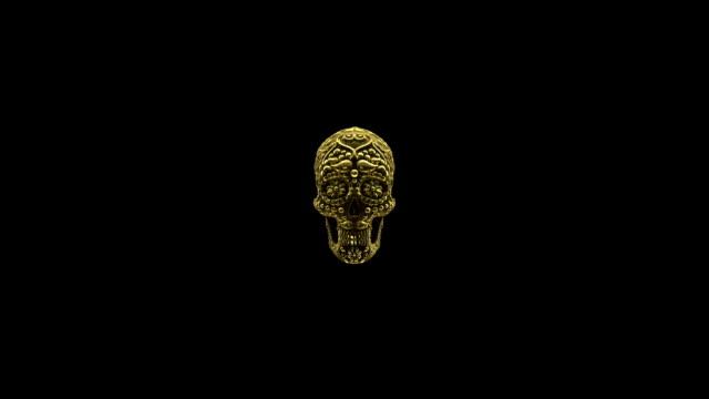 mexican sugar skull loop animation full HD video