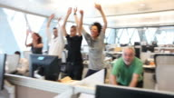 Mexican wave in office video