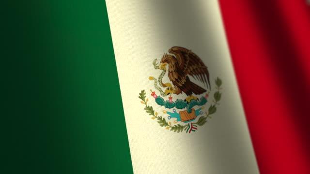 Mexico flag - loop. 4K. video