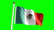 Mexico flag (Loop & green screen) video