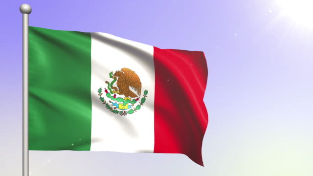 Mexico Flag (Loopable) video