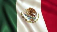 Mexico Flag Video Loop - 4K video