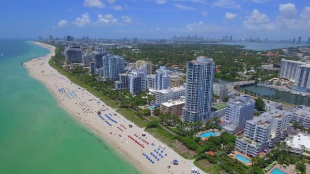 Miami Beach Florida aerial footage video