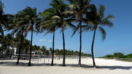 Miami Beach Florida on a sunny day video