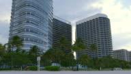 miami beach living block rainy sky panorama 4k florida usa video