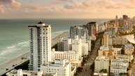 Miami Beach Sunset Panorama video