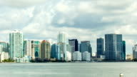 Miami City View Timelapse skyline Slide video