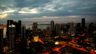 Miami, cloudy morning time lapse video