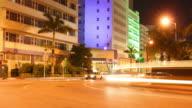 Miami night traffic video