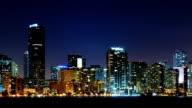 Miami skyline at night video