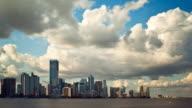 Miami skyline time lapse video