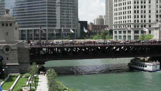 Michigan Ave Bridge in Chicago video