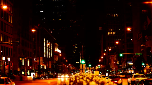 Michigan Avenue by night , Chicago Downtown ( HD 1080p) video