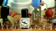 Microcircuit chip with electronic components video
