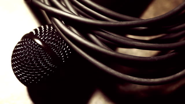 Microphone and some cables. video