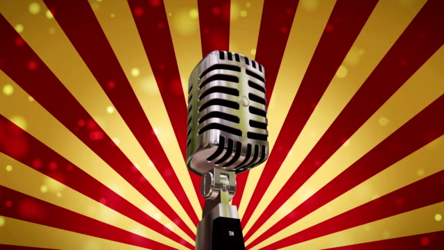 Microphone Background (Loopable) video