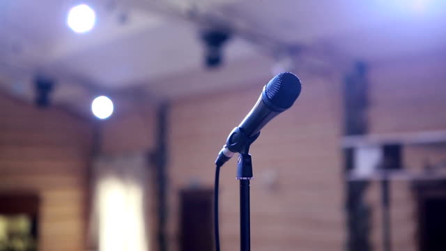 Microphone On Concert Stage video