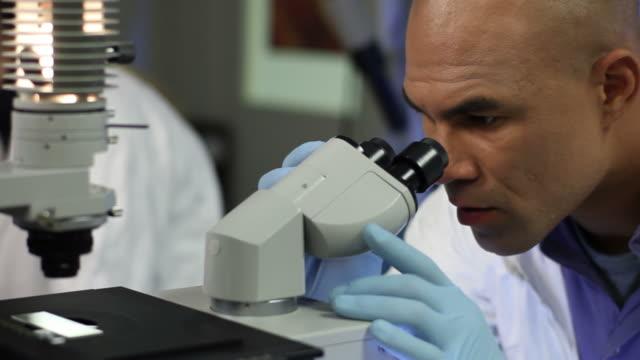 Microscope Man Close Up video