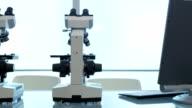 Microscopes in lab video