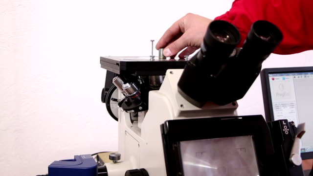 microscopic examination of the metal structure video