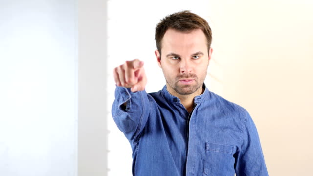 Middle Aged Man Pointing toward Camera video