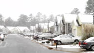 Middle Class American Subdivision Snow Day video
