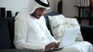 Middle Eastern Man Using Laptop video