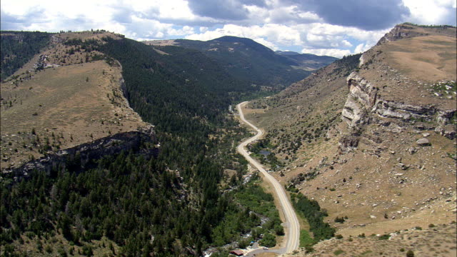 Middle Fork Of the Popo Agie River Flows Underground  - Aerial View - Wyoming,  Fremont County,  helicopter filming,  aerial video,  cineflex,  establishing shot,  United States video