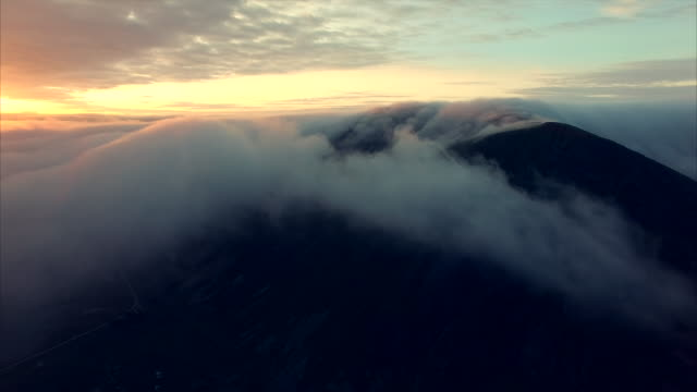 Midnight sun above the clouds in Norway video