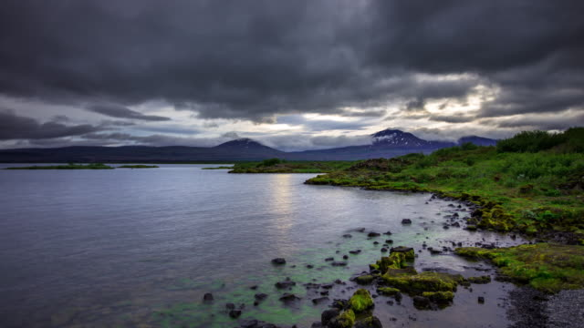 Midnight Sun at Thingvellir, Iceland - Time Lapse video
